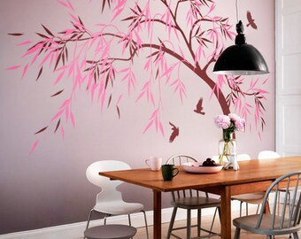 Dining Room Wall Decoration Hallway Tree Decals Area Decor Apartment