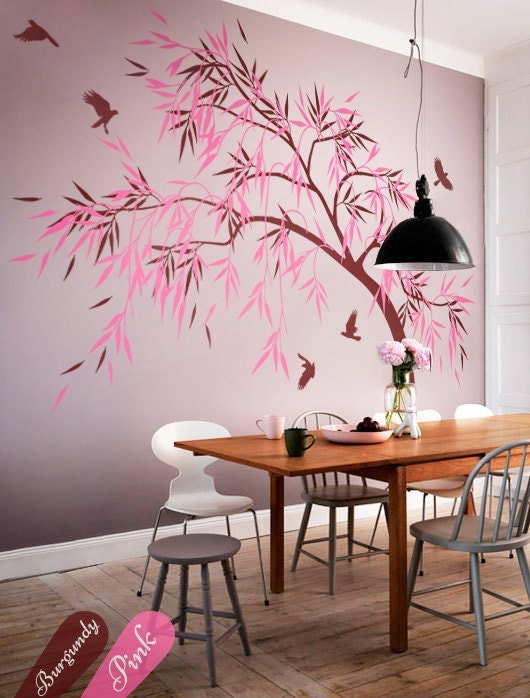 Dining room wall decoration hallway tree decals dining area for Breakfast area wall decor