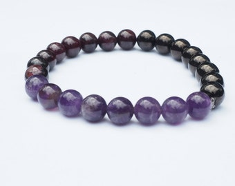 Healing Crystal Bracelet For Calming /Soothing Reiki Energy Bracelet
