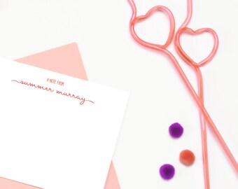 Personalized Stationary Women, Personalized Note Cards for Women, Personalized Stationary Cards, Girls Personalized Stationary Set of 10