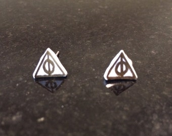 Small Deathly Hallows Studs