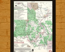 BUY 2 GET 1 FREE Old Canada Trail Map Lewis&Clark - Ancient Old Map Print Antique Map Historical Antique Posters Old Design Print Wall Decor