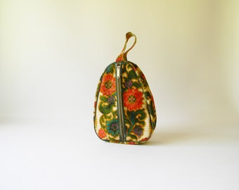 Retro 1970's Floral Shoe Bag