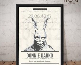 DONNIE DARKO Poster - Unique Retro Movie Poster - Movie Print, Film Poster, Wall Art, Donnie Darko Print