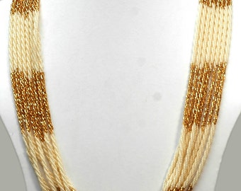 Multi Layer Beaded Necklace, Bead Chain Necklace, Seed Beads Jewelry, Seed Beads, Pote