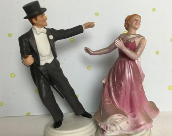 "1984 Avon Images of Hollywood Figurine ""Fred Astaire and  Ginger Rogers"" as Josh and Dinah Barkley Figurine"