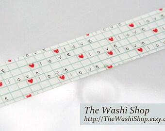 Love Hearts Washi Tape