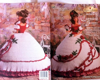Thread Crochet Barbie Ladies of Fashion doll dress pattern, Melanie's Evening Gown, by The Needlecraft Shop, no 962504.