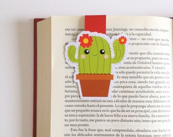 Cactus Magnetic Bookmark - Double Sided - Succulent Bookmark
