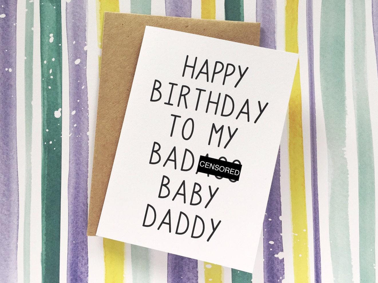 Funny Baby Daddy Card Husband Birthday Card Happy BIRTHDAY – Birthday Greetings for Husband and Father