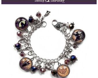 Familiar Black Cat Charm Bracelet by Sandy Gardner