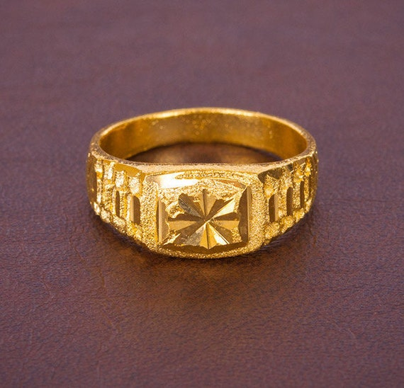 Thai Wedding Gifts: 24K Gold Plated Ring Gold Vintage Ring Thai Gold Ring By