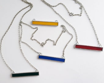 Glass pendant-minimaliste-rectangle-Mondrian-blue-red-yellow-white-black-geometrical-modern-hipster