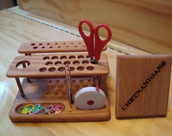 "The ""SlimLine Ergo-Elite"" Crochet Hook Organizer Workstation from CHETNANIGANS!"