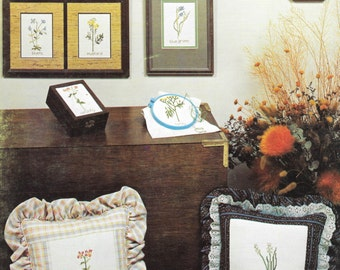Wildflowers, Charted Designs, Vintage Cross Stitch Designs, 70s Wildflowers Embroidery, Vintage Needlework, Retro Cross Stitch Patterns