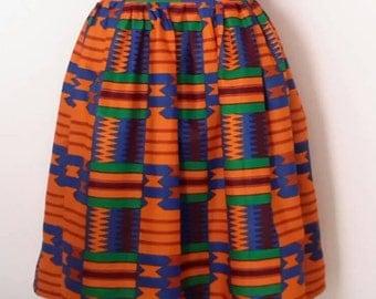 Tadi Kente African Print Skirt