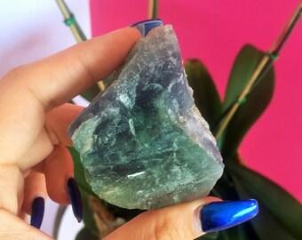RAW Fluorite/Green Fluorite/Purple Fluorite/ Healing Crystal Stones w/ Reiki