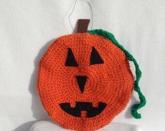 Door Decor, Pumpkin Door Decoration, Jack o Lantern Decor, Halloween Decoration, Crocheted Pumpkin, Halloween Decor, Autumn Decor, Pumpkin
