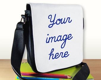 Personalized Shoulder Bag - Custom Shoulder Bag - Customized Small Shoulder Bag - Custom Gift - Messenger Bag - Reporter Bag - Crossbody Bag
