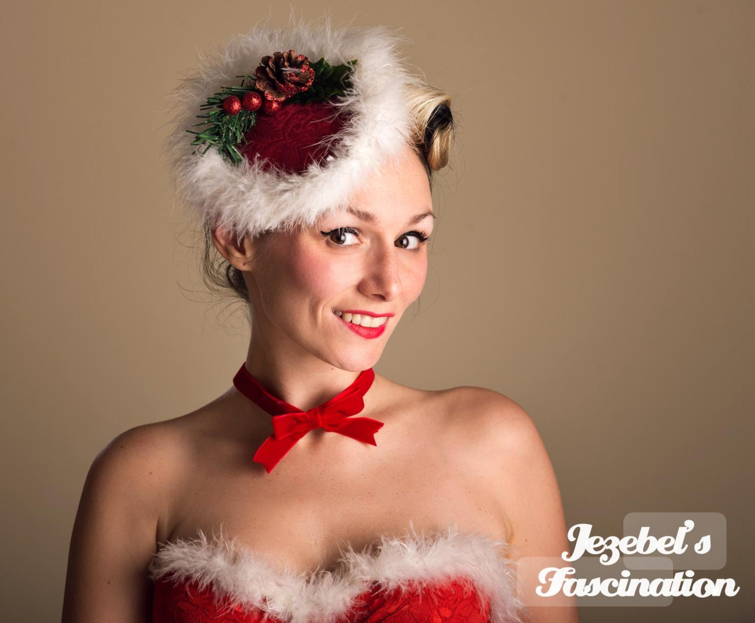 Santa Baby-Ugly Christmas Sweater Fascinator Tacky Cocktail Hat ...