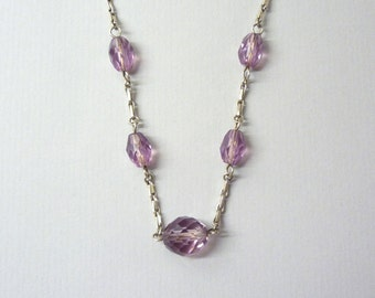 Faceted Amethyst Glass