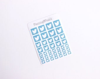 Twitter Social Media Stickers | 39 Planner Stickers