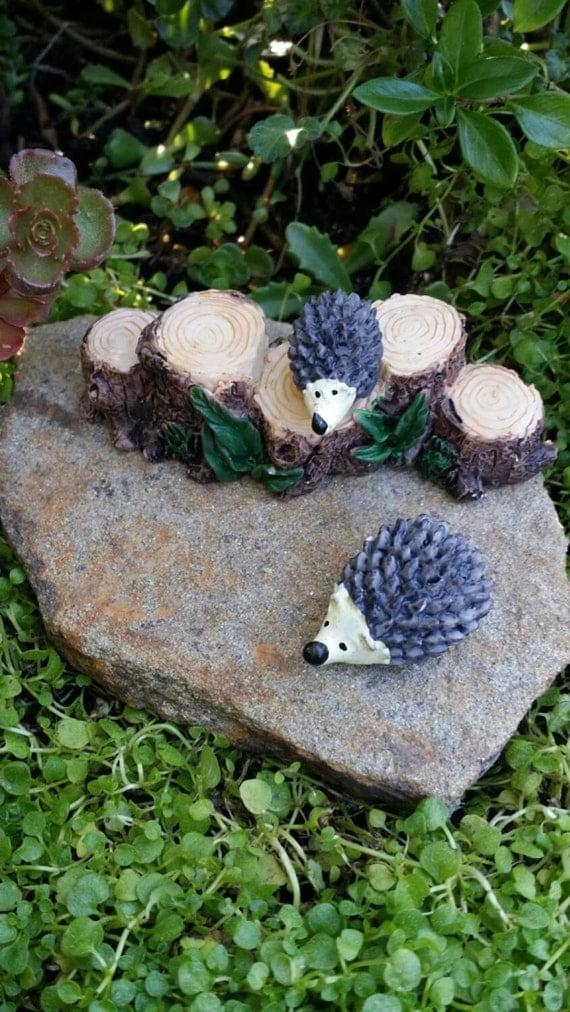 fairy garden hedgehogs woodland animals by magikalfairyland