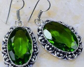 """Peridot 2"""" Dangle Earrings"""