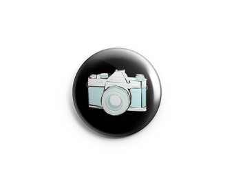 "Camera button / Photographer button-  1"" Pinback Button, Magnet, or Flair, gifts for photographers, camera flair"