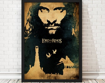 The Lord of the Rings The Return of the King Movie Poster, LOTR Poster, LOTR Print, Minimalist Poster