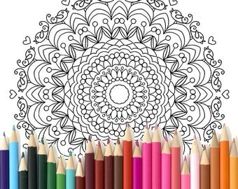 Adult Colouring Page Mandala 1