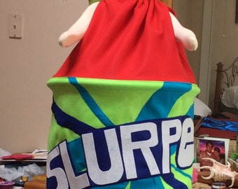 Slurpee costume for all ages!  Choose your flavor color,