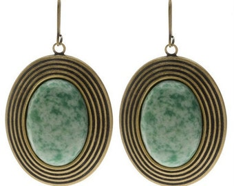 Boho Style Jade Earrings