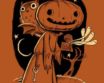 """The Halloween Box 12"""" x 18"""" Signed Art Print by Rhode Montijo"""