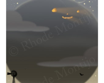 """The Arrival 8"""" x 10"""" Signed Halloween Art Print by Rhode Montijo"""