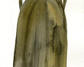 "Victorian Halloween 17"" x 5.5"" Watercolor Signed Art Print by Rhode Montijo"