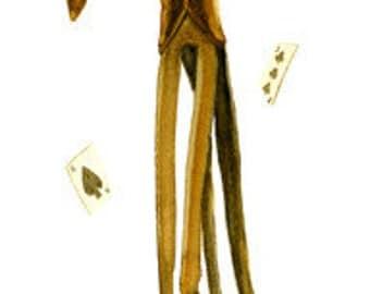 "Halloween Magician 17"" x 5.5"" Signed Watercolor Art Print by Rhode Montijo"