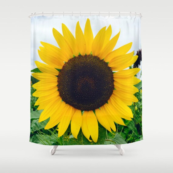 Items Similar To Sunflower Yellow Shower Curtain Brown Blue Green Bath Curtain Bathroom