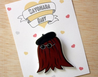 Cousin Itt Brooch (The Addams Family) Shrink Plastic