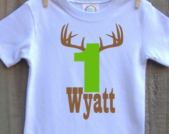 custom personalized boys birthday shirt deer hunter vinyl