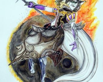 "Art Print - Final Fantasy, Black Mage 11"" x 14"""