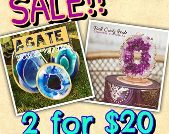 Agate/Geode Combo Tutorial Sale
