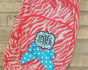 Monogrammed Backpack | Mesh Backpack | Embroidered Mesh Backpack | Girls Backpack | Boys Backpack | Kids Backpack | School Bag | Backpack