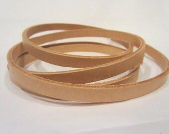 "3/8"" or 1/2""  Genuine Leather Strips, Natural Vachetta Strap, Leather Strip Strap, 55""-60"" Long, Leather Strapping"