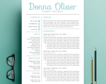 modern resume template cv template and cover letter template for word 3 pack