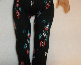 18 inch doll clothes black aztec print leggings separates bottoms will fit American Girl dolls