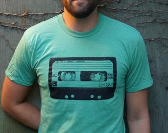 Cassette Tape | Music T-shirt | Retro Vintage Mixed Tape t shirt Mens tshirt  handmade tshirt |