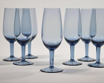 8. blue glass Vintage handmade glasses