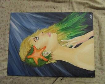 Surreal Mermaid painting