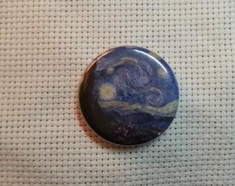 Van Gogh Starry Night Button Needle Minder